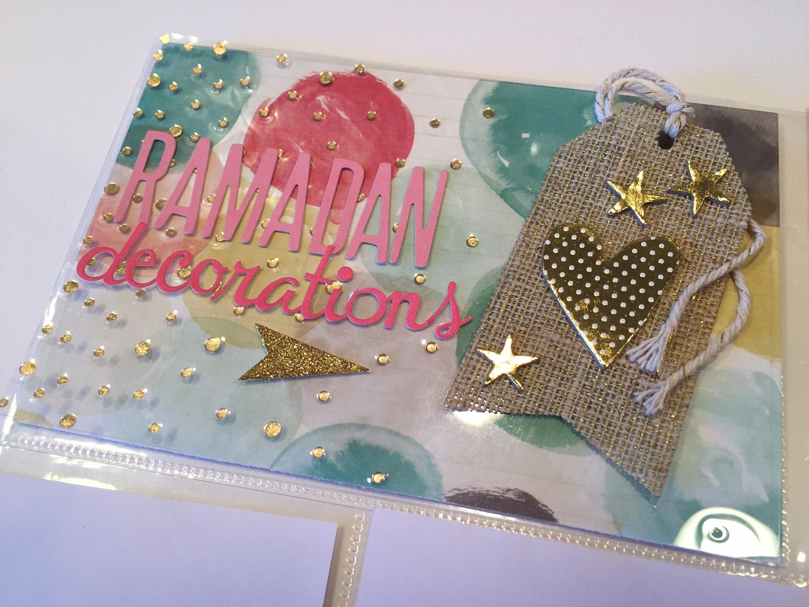 Ramadan Decorations | Ramadan Scrapbook Page