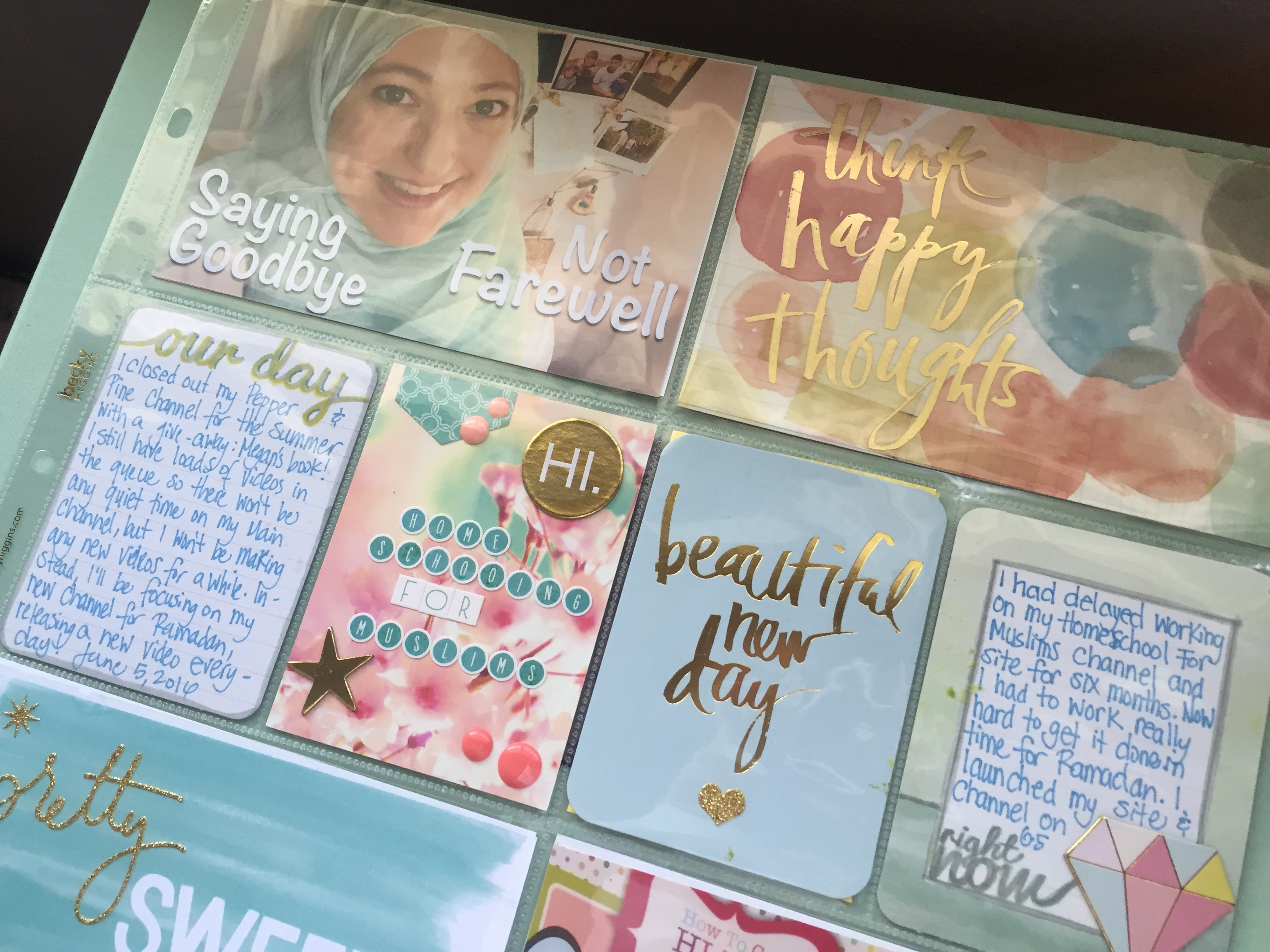 Ramadan Scrapbook | Project Life